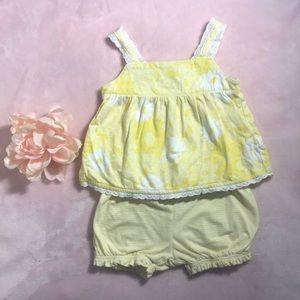 18 Month Yellow Tank & Short Set